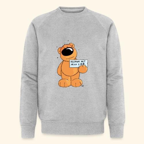 chris bears Keiner hat mich lieb - Männer Bio-Sweatshirt