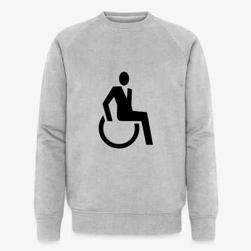 Sjieke rolstoel gebruiker symbool - Mannen bio sweatshirt van Stanley & Stella