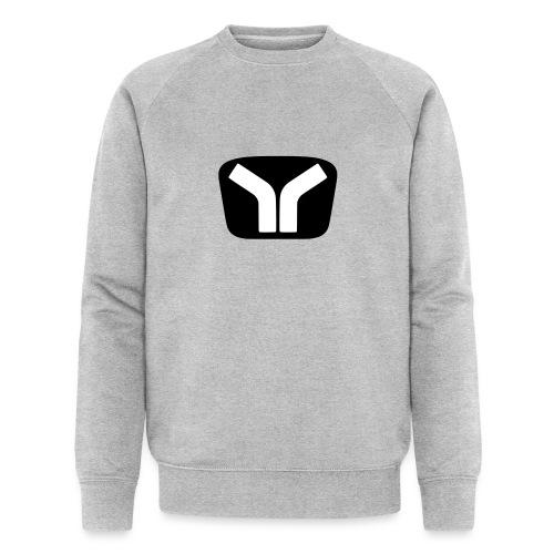 Yugo Logo Black-White Design - Men's Organic Sweatshirt by Stanley & Stella