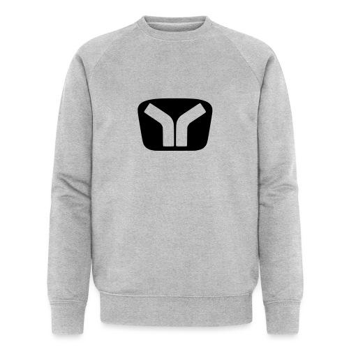 Yugo Logo Black-Transparent Design - Men's Organic Sweatshirt