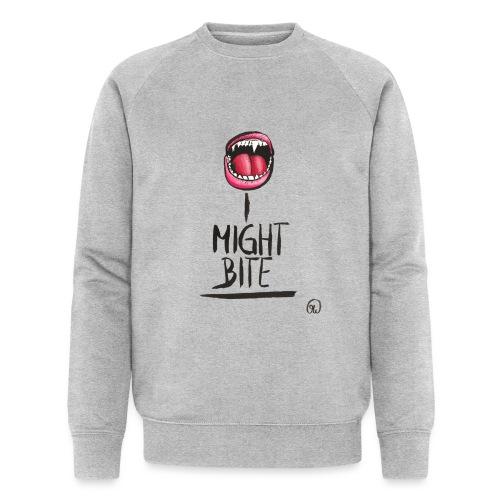 I might bite - Vampir Zähne geöffneter Mund - Männer Bio-Sweatshirt von Stanley & Stella