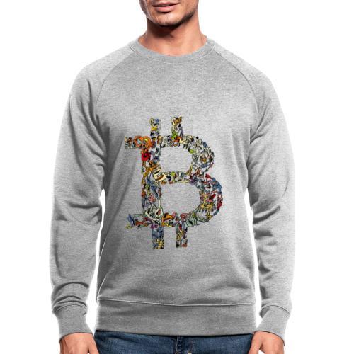 BITCOIN logo color - Mannen bio sweatshirt