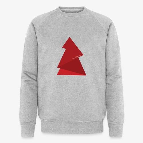 sapin triangles rouges - Sweat-shirt bio