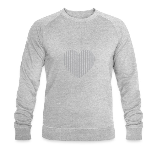 heart_striped.png - Men's Organic Sweatshirt by Stanley & Stella