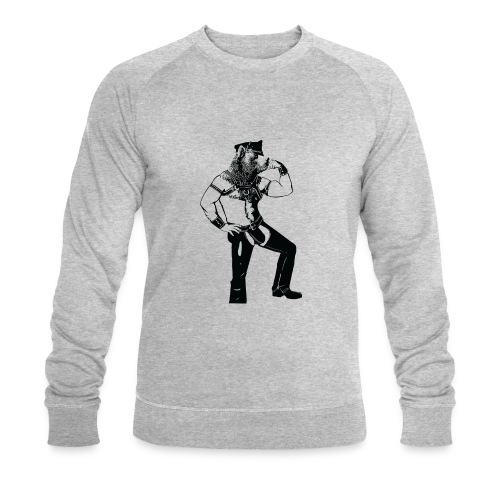 Grrr leather bear - Sweat-shirt bio