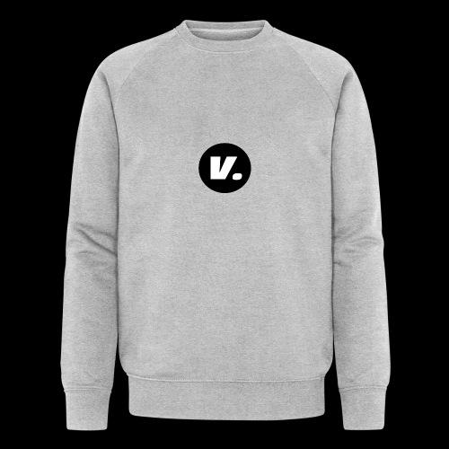 Ventura White V Logo - Mannen bio sweatshirt