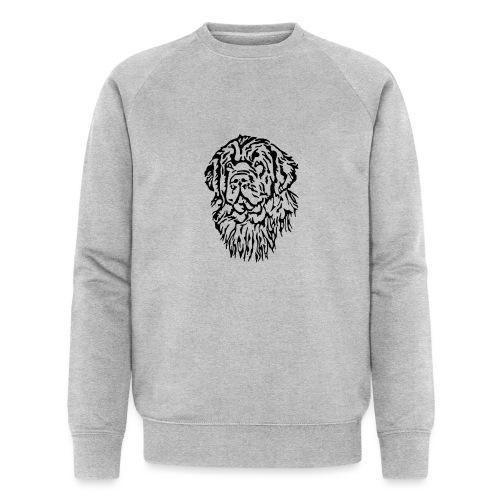 Neufundländer Kopf - Männer Bio-Sweatshirt