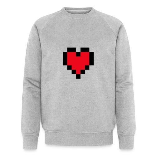 Pixel Heart - Mannen bio sweatshirt van Stanley & Stella
