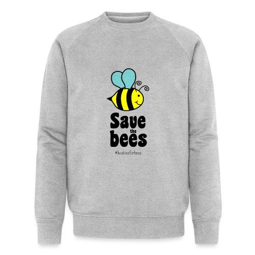 Bees9-1 save the bees | Bienen Blumen Schützen - Men's Organic Sweatshirt by Stanley & Stella