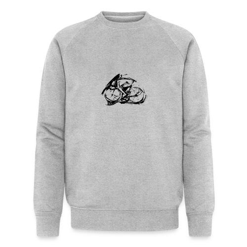futuristischer radfahrer - Männer Bio-Sweatshirt