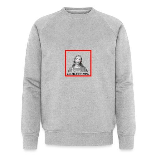 Crucify God   Sad Jesus - Stanley & Stellan miesten luomucollegepaita