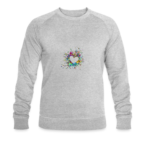 My heart explodes for you - Men's Organic Sweatshirt by Stanley & Stella