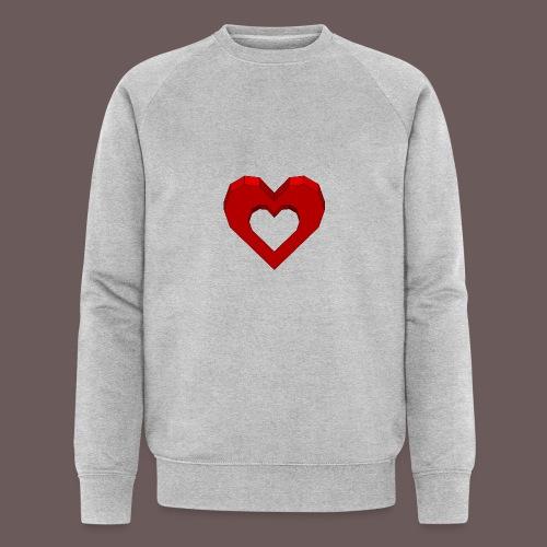 Heart Illusion - Økologisk Stanley & Stella sweatshirt til herrer