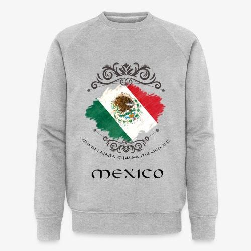 Mexico Vintage Bandera - Männer Bio-Sweatshirt von Stanley & Stella