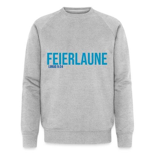 FEIERLAUNE - Print in blau - Männer Bio-Sweatshirt