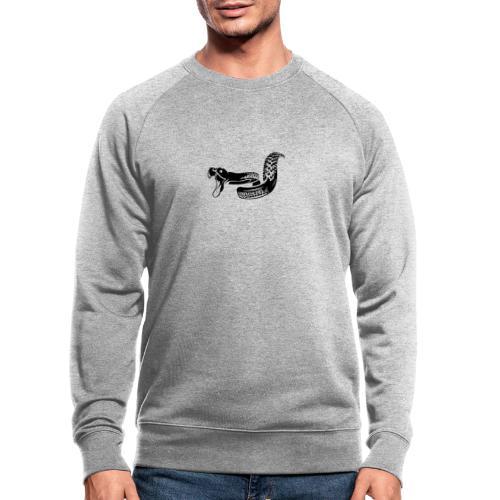Singletrail.at - dein Reifen wird zur Schlange! - Männer Bio-Sweatshirt