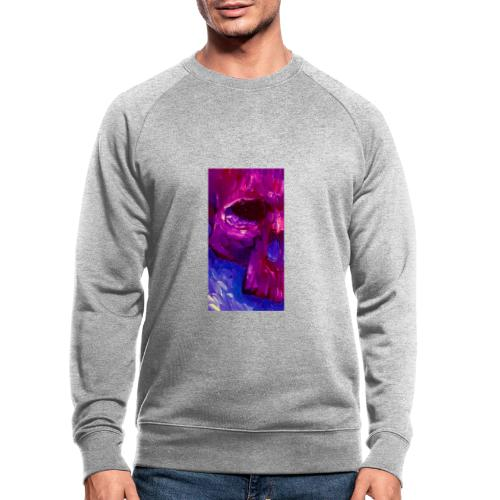 Purple Skull #2 - Mannen bio sweatshirt