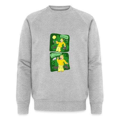 Katzenhaare - Männer Bio-Sweatshirt