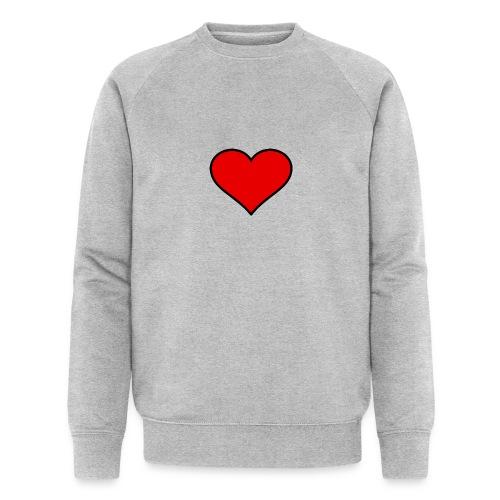 big heart clipart 3 - Ekologisk sweatshirt herr från Stanley & Stella