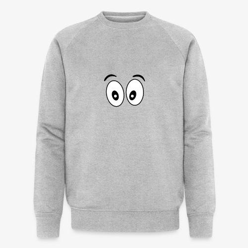 wide eye 1 - Men's Organic Sweatshirt by Stanley & Stella