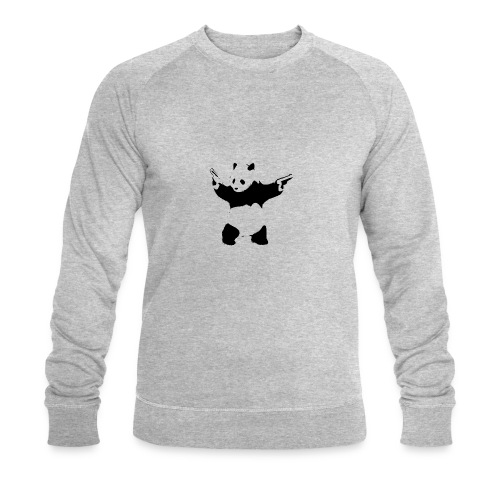 oso panda pistolas - Sudadera ecológica hombre