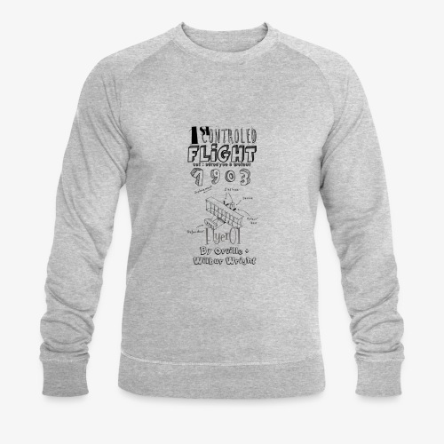 1stcontroled flight - Sweat-shirt bio Stanley & Stella Homme