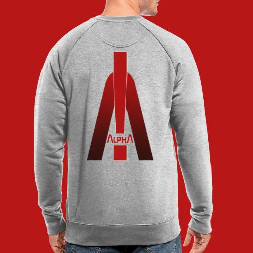 ALPHA - Winner wins! - Männer Bio-Sweatshirt