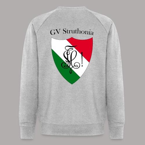 Wappen Struthonia beschriftet - Männer Bio-Sweatshirt