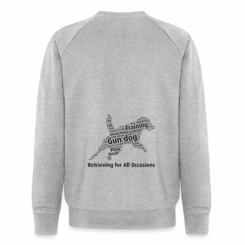 Retrieving for All Occasions wordcloud svart - Ekologisk sweatshirt herr från Stanley & Stella