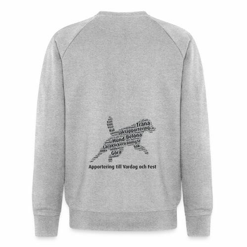Apportering till vardag och fest wordcloud svart - Ekologisk sweatshirt herr från Stanley & Stella
