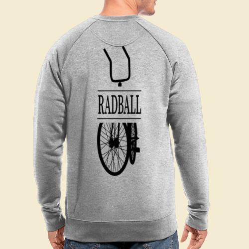 Radball | Retro Black - Männer Bio-Sweatshirt