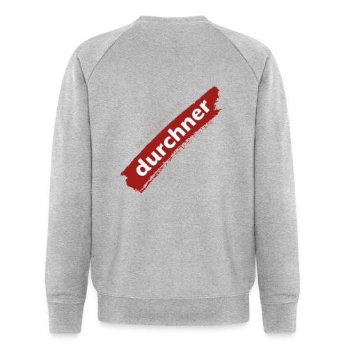 vorne oder hinten schräg - Männer Bio-Sweatshirt
