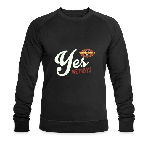 YES-we did it_white - Männer Bio-Sweatshirt von Stanley & Stella