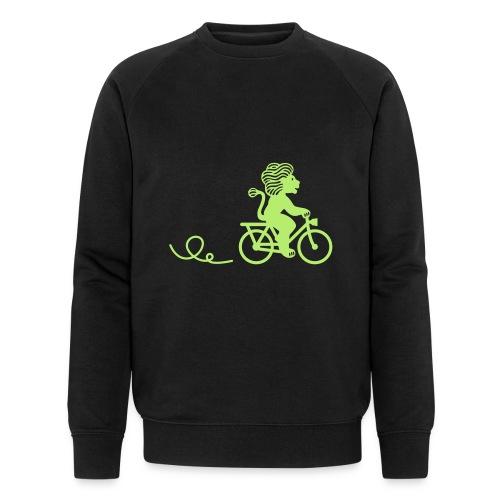 Züri-Leu beim Velofahren ohne Text - Männer Bio-Sweatshirt von Stanley & Stella