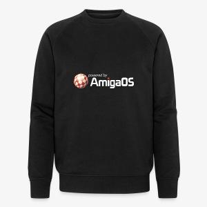 PoweredByAmigaOS white - Men's Organic Sweatshirt by Stanley & Stella