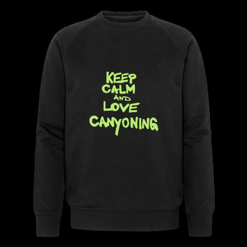 keep calm and love canyoning - Männer Bio-Sweatshirt von Stanley & Stella
