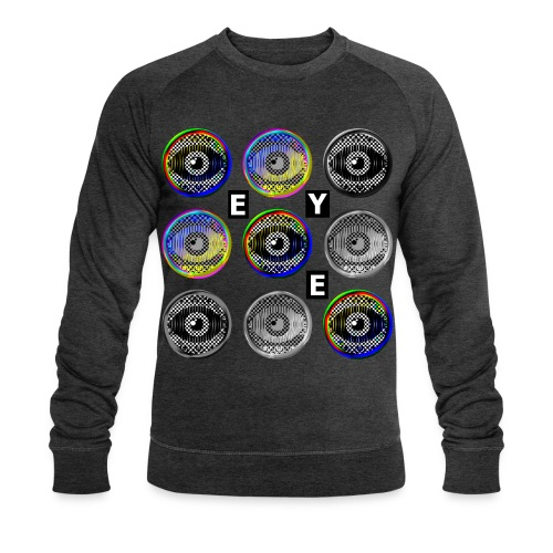 pop art eyes - Men's Organic Sweatshirt by Stanley & Stella