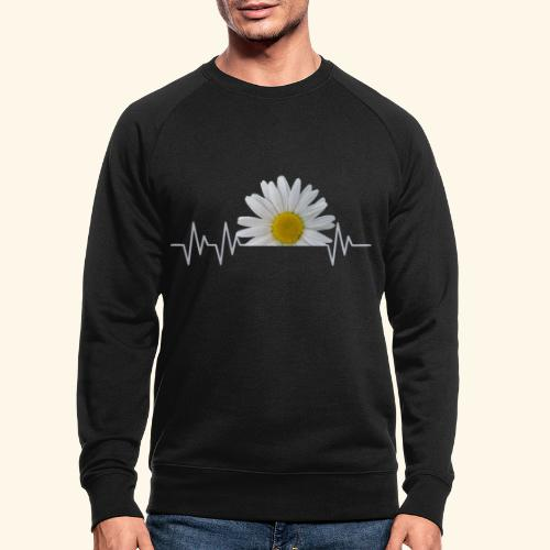 Margerite, Herzschlag, Gänseblümchen, Pulsschlag - Männer Bio-Sweatshirt