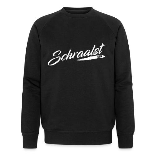 SCHRAALST wit - Mannen bio sweatshirt