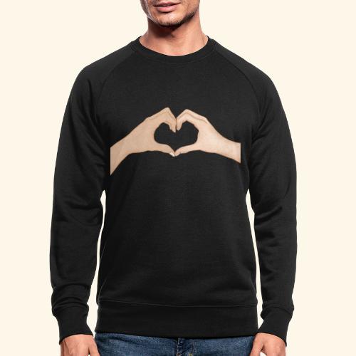 Mains Coeur Amour - Love hands - Sweat-shirt bio