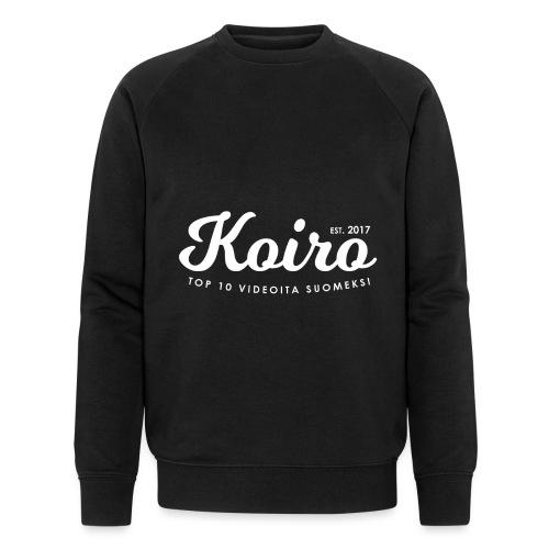 Koiro - Valkoinen Teksti - Miesten luomucollegepaita