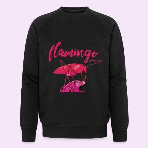 Wannabe Flamingo Sprinkhaan HOT PINK BABY - Mannen bio sweatshirt van Stanley & Stella