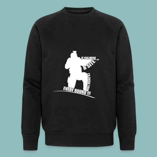 I'd rush you! White Version - Männer Bio-Sweatshirt von Stanley & Stella