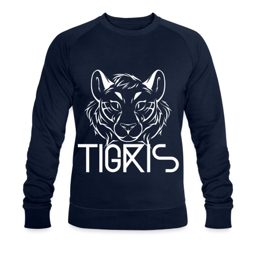 Tigris Logo Picture Text White - Men's Organic Sweatshirt by Stanley & Stella