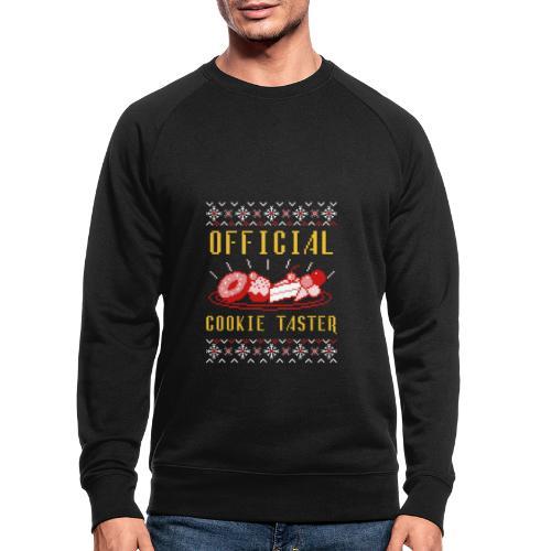Morsom julegenser - Official cookie taster - Økologisk sweatshirt for menn