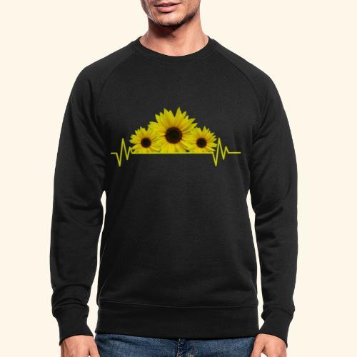 Sonnenblumen Herzschlag Sonnenblume Blumen Blüten - Männer Bio-Sweatshirt