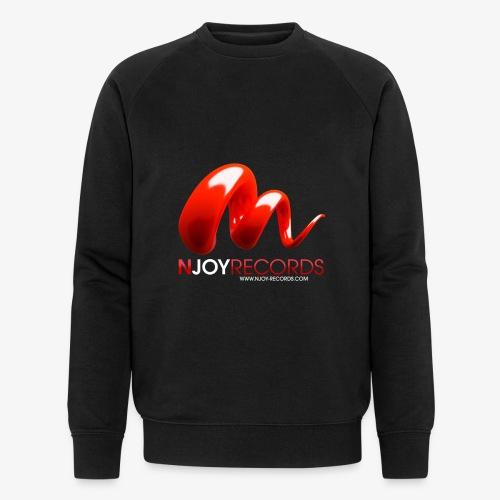 Logo Njoy Records Blanc - Sweat-shirt bio Stanley & Stella Homme