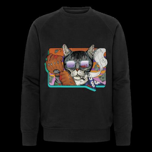 Crime Cat in Shades - Ekologiczna bluza męska Stanley & Stella