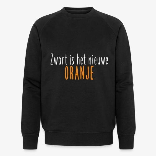 Zwart is het nieuwe oranje - Mannen bio sweatshirt