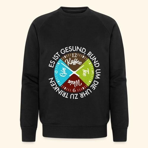 Kaffee Tee Wein Gin Rund um die Uhr ist Gesund - Männer Bio-Sweatshirt von Stanley & Stella